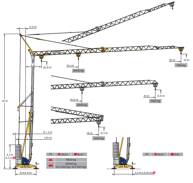 Tower Crane Self Assembly : Potain self erecting tower cranes crane rental