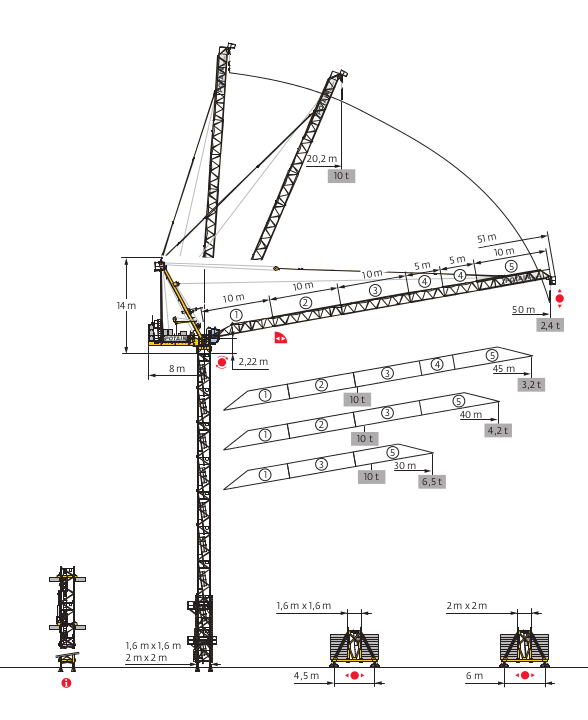Tower Crane Design : Potain mr tower cranes crane rental south africa